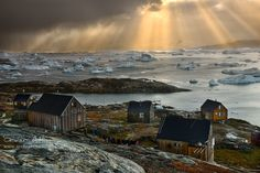 Ice Fjord Village. A small village in a remote area of East Greenland by Örvar Atli on 500px.