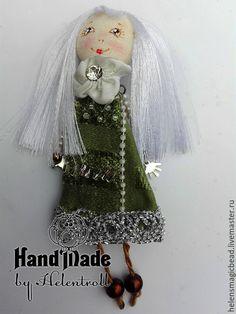 Купить Брошь Лиззи - зеленый, украшения ручной работы, брошь, текстильная брошь