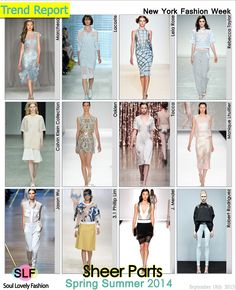 Sheer Parts #Fashion #Trend for Spring Summer 2014 #Spring2014 #Trends #sheer