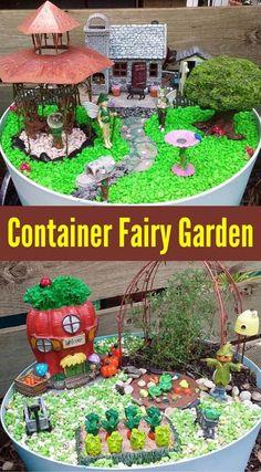 Mini Fairy Garden, Fairy Garden Houses, Container Fairy Garden, Landscaping With Rocks, Backyard Landscaping, Backyard Ideas, Diy Garden Decor, Garden Ideas, Garden Pots