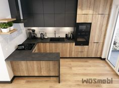 Realizations kitchen furniture on order Rzeszów WOSMEBL .- Realizations of kitchen furniture on order Rzeszów WOSMEBL Realizations of kitchen furniture on order Rzeszów WOSMEBL - Modern Kitchen Interiors, Modern Kitchen Cabinets, Modern Farmhouse Kitchens, Farmhouse Kitchen Decor, Home Decor Kitchen, Kitchen Furniture, Home Kitchens, Concrete Interiors, Kitchen Taps