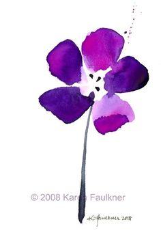 Purple Passion watercolor flower