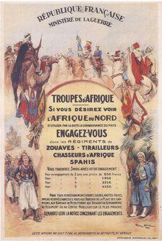 Affiche pour l'engagement dans l'armée d'Afrique