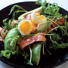 Taste Mag | Salmon and avocado salad with soft-boiled eggs @ http://taste.co.za/recipes/salmon-and-avocado-salad-with-soft-boiled-eggs/