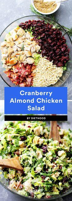 3. Cranberry Almond Chicken Salad #greatist https://greatist.com/eat/healthy-chicken-salad-recipes