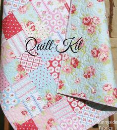 LAST ONE Girl Baby Quilt Kit LuLu Rose Tanya by SunnysideFabrics