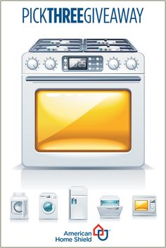 Cooking? Baking? Upgrade your time in the kitchen with the American Home Shield You Pick Three Giveaway. You could be the lucky winner of a brand-new GE® oven/range, plus two other appliances of your choice. Entering is easy as pie. To see how and for official rules, visit: ahs.com/sweeps