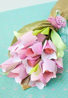 Paper Flowers With Chocolate Centers | Make: DIY Projects, How-Tos, Electronics, Crafts and Ideas for Makers