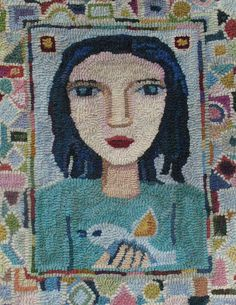 Portrait rug by Woods and Water. Nice border