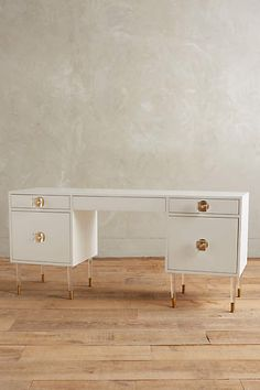 Would make a beautiful vanity - Lacquered Regency Desk - anthropologie.com