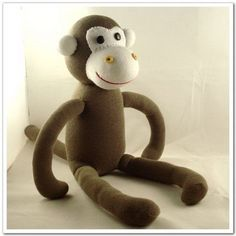 Handmade Original Sock Monkey Stuffed Animal by supersockmonkeys,