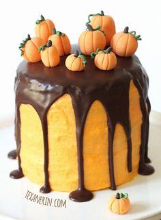 Chocolate Orange Halloween Cake (100% whole grain) | texanerin.com
