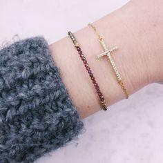 Cross jewelry, cross bracelet, gemstone bracelet, cross jewellery