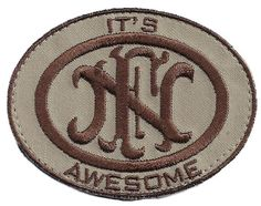 "ORCA Industries ""It's FN Awesome!"" Patch - Tan - Patches - Morale - Double Tap Military Surplus - 1"