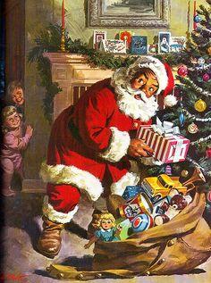 Ideals: Santa's Visit by 4 Color Cowboy, via Flickr