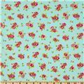 Timeless Treasures Tweet Roses & Paisleys Aqua - Discount Designer Fabric - Fabric.com