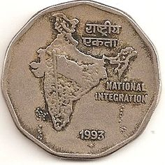 Independent India issues: The introduction and experiments of social themes on the two-rupee coins. Sell Old Coins, Old Coins Value, Ancient Indian History, History Of India, Louis The Pious, Tropic Of Capricorn, India Independence, Social Themes, Coin Design