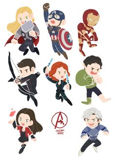 Age of Ultron team chibis by Avengers Assemble! Age of Ultron team chibis by Avengers Humor, Baby Avengers, Avengers Fan Art, Avengers Cartoon, Marvel Avengers Assemble, The Avengers, Marvel Art, Marvel Heroes, Ultron Marvel