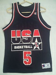 RARE VINTAGE CHAMPION USA BASKETBALL NATIONAL TEAM #5 MARK PRICE JERSEY SIZE 40