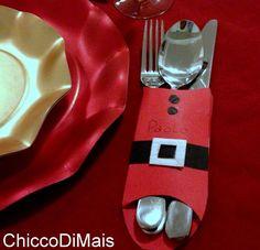 Portaposate segnaposto di Natale idea fai da te il chicco di mais http://blog.giallozafferano.it/ilchiccodimais/portaposate-segnaposto-di-natale-idea-fai-da-te/