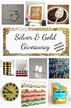 Silver & Gold Giveaway @ http://onmysideoftheroom.blogspot.com/2014/12/all-that-glitters-giveaway.html