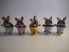 Paper Quilled Miniature Easter Bunny Rabbit in by Customcrafter500, $6.95