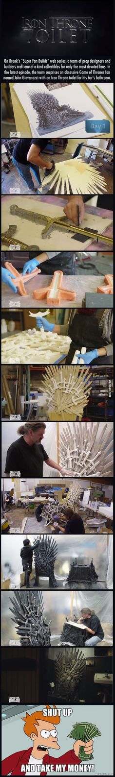 The Iron Throne Toilet - Shut Up and Take My Money!