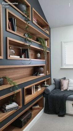 Home Office Design Built Ins Paint Colors 30 Ideas Etagere Design, Design Case, Shelf Design, Storage Design, Built Ins, Home Interior Design, Interior Office, Interior Doors, Interior Ideas