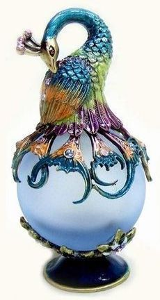 Peacock Perfume Bottle