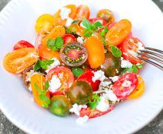 heirloom tomato + goat cheese salad