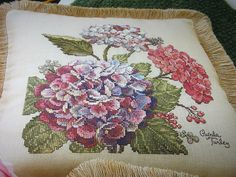 Hydrangeas & Roses Glynda Turley Cross Stitch by CrossedCreations
