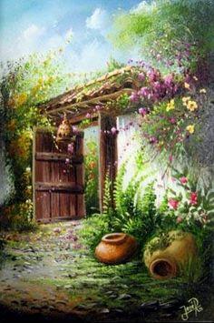 José Raúl Rodríguez Galán (Colombia) Watercolor Landscape, Landscape Paintings, Watercolor Paintings, Pictures To Paint, Art Pictures, Relaxing Art, Art Oil, Painting Inspiration, Cute Art