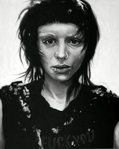 Lisbeth Salander Painitng Fine Art Print (Rooney Mara - The Girl With The Dragon Tattoo - Stieg Larsson - Sweden - NordicNoir - Punk - Goth - Icons)