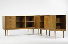 Storage Unit for the Organic Design Exhibition, Red Lion Furniture Company, 1940., Designed by Charles Eames and Eero Saarinen.