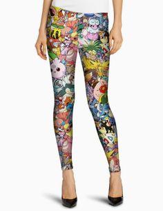 Pokemon Cartoon Printed Leggings  #leggings #cartoonleggings   They're one of our classic MUST HAVE pair