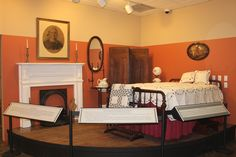 Bedroom vignette from the 1890s currently on display at the museum