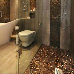 Hexagon Metal Mosaic Wall Tiles Backsplash Smmt055 Copper Etsy In 2020 Mosaic Wall Tiles Metal Mosaic Wall Metal Mosaic Tiles