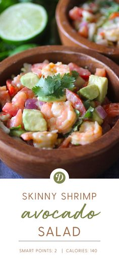 Skinny Shrimp Avocado Salad