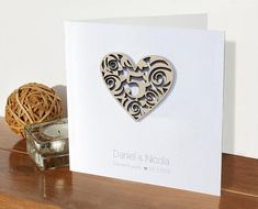 Silver wedding anniversary card personalised years married