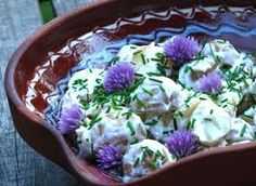 potato chive flower salad