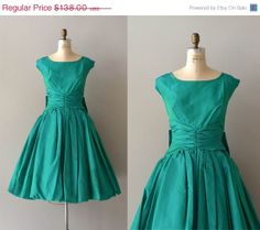 50s TURQUOISE ROCKABILLY SWING DRESS 12 14 16 Plus Size Pin Up ...