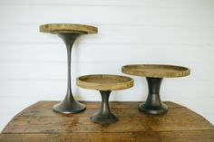 Tapered Wooden Cake Stand