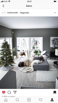 Tapis rond SOUS le sapin - in 2019 Living Room White, Rugs In Living Room, Home And Living, Living Room Decor, Interior Design Living Room, Living Room Designs, Halloween Home Decor, Home Decor Inspiration, Home Furniture