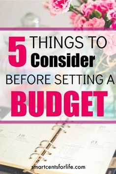 Setting a budget is a powerful tool if you really want to manage your finances in an effective way. Consider 5 aspects when setting a budget.