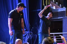 #GrangerSmith taking #selfies at his concert with David from The Morning Show