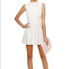 Nasty Gal Anastacia Lace Dress Lacy cream dress perfect for more formal occasions. It's short though, so it's not for those who are skin shy! Perfect combination of elegant and sexy. Nasty Gal Dresses Mini