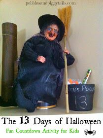Pebbles and Piggytails: 13 Days of Halloween {Fun Idea for Kids to Countdown to Halloween}