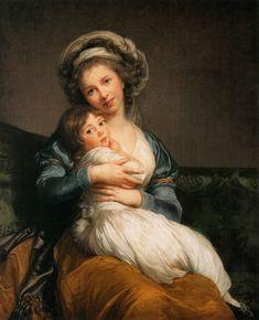 """Self Portrait with Her Daughter, Julie"" - Louise Elisabeth Vigee Le Brun (1786), Musee du Louvre, Paris"