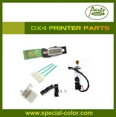Roland RS640/VP540/300/Parts 1pc DX4 solvent Printhead+DX4 Scan Motor+Eco Solvent Big Damper with DX4 Head Manifold