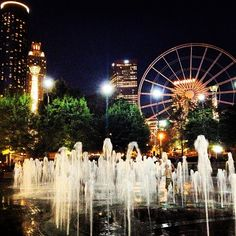 Remember the 1996 World Olympic that was held in Atlanta? This is what people saw at night.